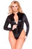 Sexy Wet-Look Body von Allure aus der Kitten-Kollektion mit langen Ärmeln